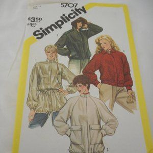 Vntg Simplicity Jacket uncut sewing pattern 5707